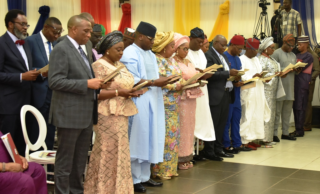 Image result for Sanwo-Olu inaugurates Commissioners, Special Advisers